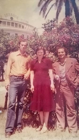 ზაირა ქებურია მეუღლესთან, გურიელ ქარდავასთან (მარცხნივ) და ძმასთან, რეზო ქებურიასთან ერთად