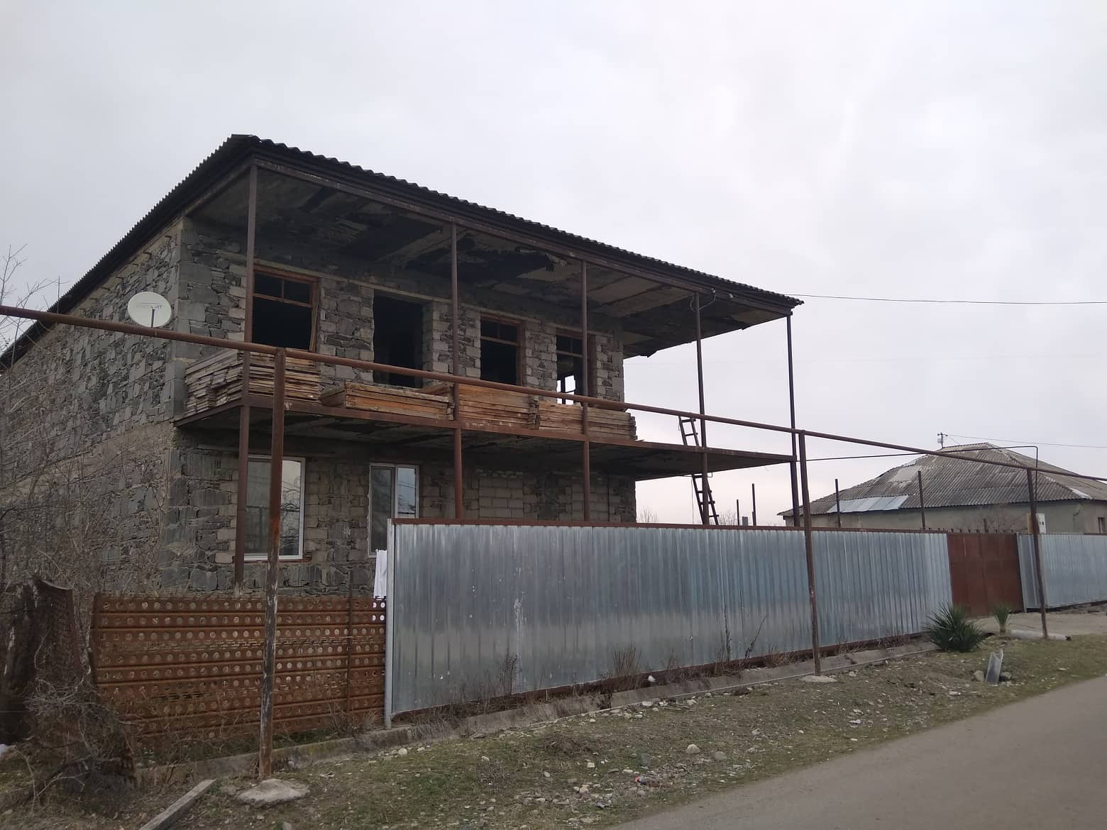 Nadibaidze family's new house in Tamarisi. It is still under construction