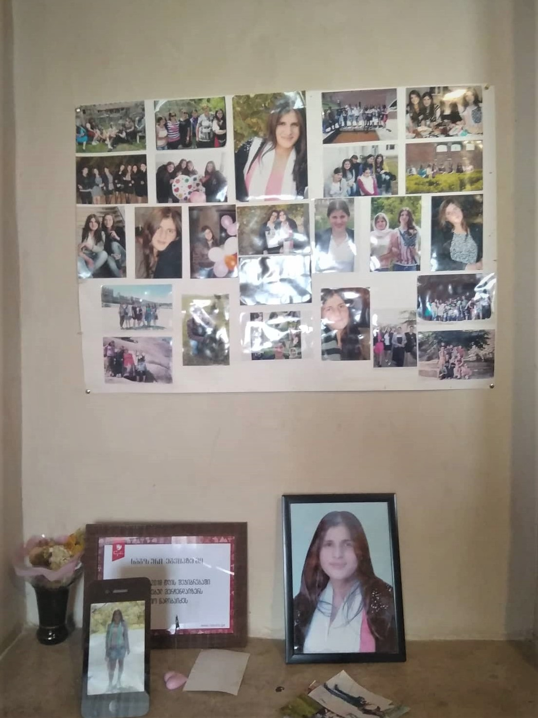 Manana Nadibaidze's pictures in the family's new house