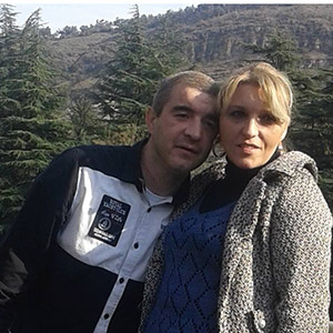 Miranda Vacheishvili with her  second husband, murderer Giorgi Janashvili